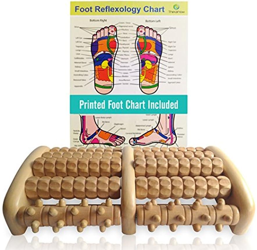 球状ミシン滑り台TheraFlow Large Dual Foot Massager Roller - Plantar Fasciitis, Heel, Arch Pain Relief -Enhanced Model 2018- Laminated Foot Chart & Detailed Instructions Included - Stress Relief, Relaxation Gift 141[並行輸入]
