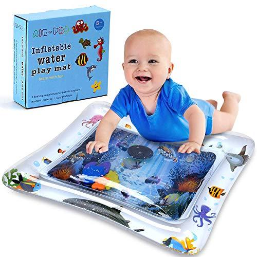 Asiso ウオーターマット ベビー 水遊び プレイマット 赤ちゃん プレイジム 水注入 ひんやり 暑さ対策 知育玩具 (ホワイト)
