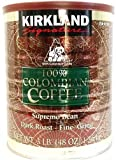 カークランド 100%コロンビアコーヒー粉缶 レギュラーコーヒー 深煎り 細挽き 1.36kg×2缶