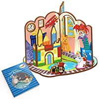 CubicFun Fairytale Time The Brave Tin Soldier Playset with Educational Storybook Game Cards and Paper Folding [Floral] [並行輸入品]