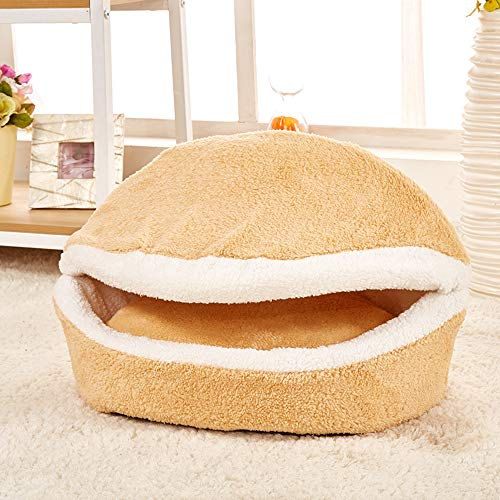 ATAKA キャット ベッド 猫ベッド冬用 子犬 猫用 ドーム型ベッド 小動物 ハウス 冬用 洗える...