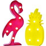 AceList Luau Party Decorations Flamingos Pineapple Lights Tropical Hawaiian Themed Party Supplies Birthday Decor for Wall Tab