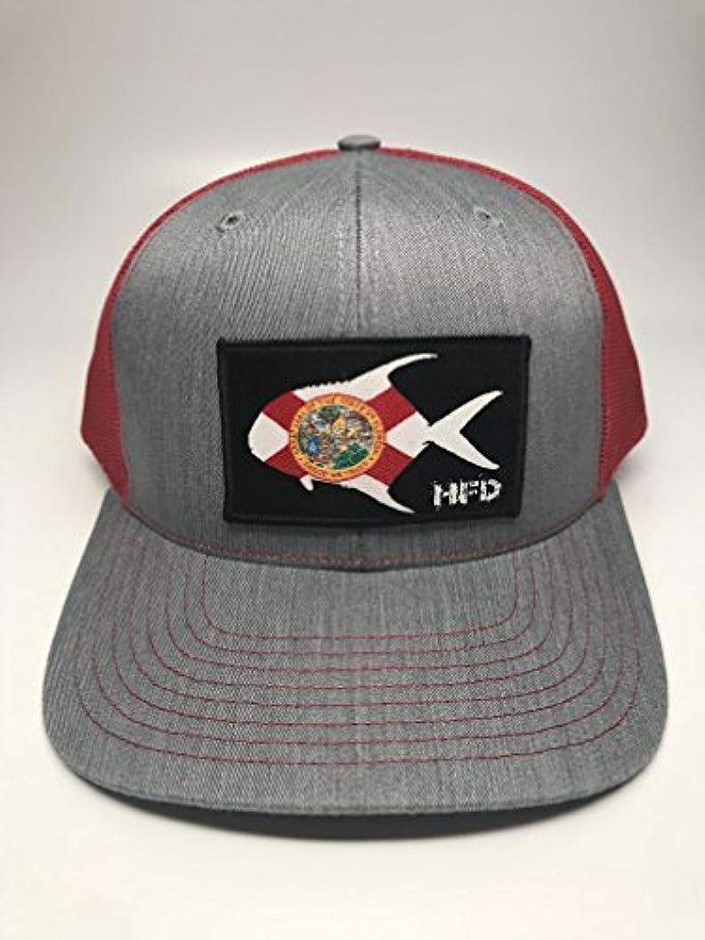 確実冷える長々と狩猟と釣りDepotフロリダPermit Patch Trucker Hat | HFD