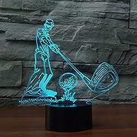 3d新しいゴルフランプ夜間ライトタッチテーブルデスクOptical Illusionランプ7色変更ライトホーム装飾クリスマス誕生日ギフト
