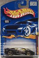 Mattel Hot Wheels 2001 1:64 Scale Black Jaguar XJ 220 Die Cast Car #085