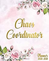 Chaos Coordinator Planner 2020-2021: Pretty Pink Peony Two Year Weekly Schedule Agenda & Planner | 2 Year Girly Floral Organizer with To-Do's, U.S. Holidays, Inspirational Quotes, Vision Board & Notes