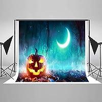 ハロウィンBackdrops写真背景Pumpkin木製床Backdrops by l2g