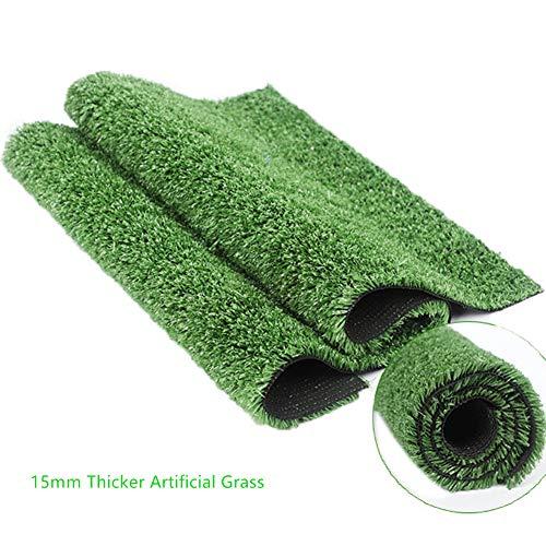 15mm杭の高さの厚い人工芝費用対効果の高いと高密度フェイクターフ - アーミーグリーン