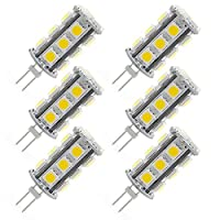 g4LED電球バイピンベース4ワットAC DC 12ボルトデイライトホワイト6000K照明風景、30W相当t3g4ハロゲン電球非調光6パック