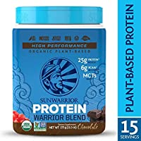 Sunwarrior - Warrior Blend, Raw Vegan Protein Powder with Peas & Hemp, Chocolate 375g (13.2oz)