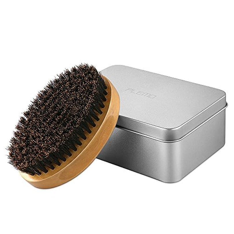 下位船員液化するPLEMO ひげブラシ シェービングブラシ 髭剃り 泡立ち 洗顔ブラシ メンズ ブラック (ブラウン)