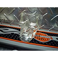 スカル(ドクロ) クリスタル ショットグラス(グラス)ウォッカ/バーボン/スコッチ/テキーラ 骸骨 ロック アメリカン雑貨 アメリカ雑貨