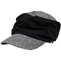[ビッグワッチ] 帽子 大きいサイズ シャーリング ツイード ワークキャップ ブラック DCP-07 メンズ L XL