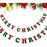 クリスマス ガーランド 飾り 屋外 フェルト オーナメント バナー インテリア パーティー 飾り付け イベント誕生日 お祝い 二次会 盛り上げ 演出に 壁飾り 小物 装飾 小道具 (レター)