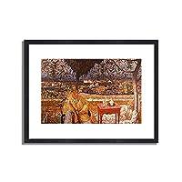 ピエール・ボナール「Gesprach im Park. 1912/13 」 インテリア アート 絵画 プリント 額装作品 フレーム:木製(黒) サイズ:XL (563mm X 745mm)