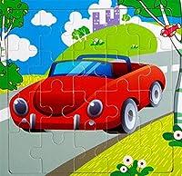 YChoice 知育パズル キッズ 木製 写真パズル 教育学習玩具 素晴らしいギフト 子供(スポーツカー)