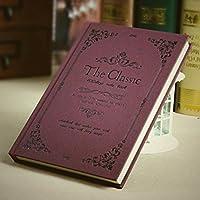 クリエイティブなシンプルな日記A5の目を肥厚させる学生ノートブックの文房具ハードコピービジネスメモ , lace wine red - size