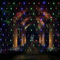 OFTEN LEDネットライト イルミネーション ガーデンライト ドレープライト 網状 連結可能 屋内外装飾 結婚式/ガーデン/パーティー/クリスマス 2m×3m 200球 3色入れ(カラー)