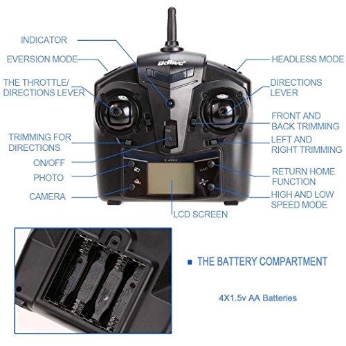 『UDI U818A 2.4GHz 4 CH 6 Axis Gyro RC Quadcopter with Camera RTF Mode 2』の5枚目の画像