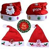 4ピース クリスマス クリスマス 帽子 子供用 不織布 ペヌチ 帽子 ハイグレード ベルベット クロス クリスマス カートゥーン お祝い レクリエーションに