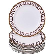 Silver Spoons 1912 Renaissance, Dessert Plates, Red