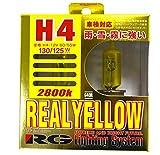レーシング ギア ( RACING GEAR ) ハロゲンバルブ 【リアル イエロー 2800K】 H4 2個入り G40R