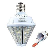 80W LED postトップライト電球、5000K LEDコーン電球Mogul、交換ミディアム取り外し可能ベース(e39/e26) 10400ルーメンをメタルハロゲン/300W HPS、LEDレトロフィット電球高ベイ倉庫ガレージキャノピー