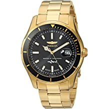 Invicta Men's Pro Diver Quartz Watch with Stainless-Steel Strap, Gold, 9 (Model: 25810)