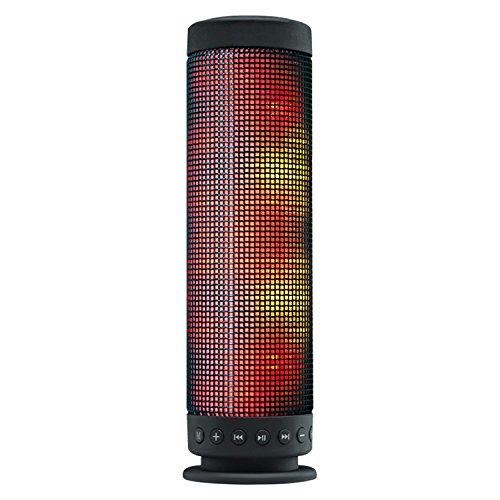 SoundSOUL(サウンドソウル) Bluetooth スピーカー 高音質 美しく光るLEDイルミレーション【メーカー1年保証付】インテリア用に最適 縦置き型 Bluetooth / AUX端子/ microSD 3種類対応 ポータブル ワイヤレス ブルートゥース スピーカー Bluetooth Speaker ブラック