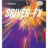 バタフライ Butterfly 卓球ラケット用ラバー スレイバー・FX 05060 裏ソフト レッド 中(1.5 - 1.8mm)