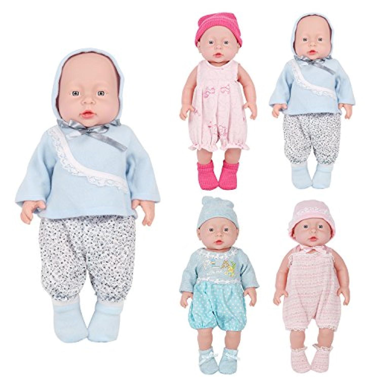 6のセットベビー人形Clothesドレス服装コスチューム14 – 16インチ用ドリー美しいDarbie人形布アクセサリー傘コームミラー帽子ガールズクリスマス誕生日ギフト
