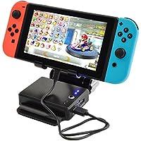 Nintendo Switch 任天堂スイッチ スタンド 充電器 モバイルバッテリー 10400mAh×2ポート(ブラック)