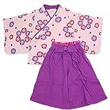 ベビー キッズ 袴風 女の子 2点 セット 紫色 90cm 1064100607PU90