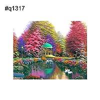 goupgolboll-風景風景DIYフルダイヤモンド絵画クロスステッチ刺繍家の装飾 - q1317