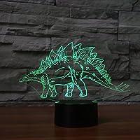 3d恐竜Night Light動物テーブルデスクOptical Illusionランプ7色変更ライトLEDテーブルランプXmasホームLove Brithday子供キッズ装飾おもちゃギフト