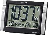 シチズン 電波 目覚まし 時計 デジタル パルデジットワイドDS ダブル アラーム 温度 カレンダー 黒 CITIZEN 8RZ150-002
