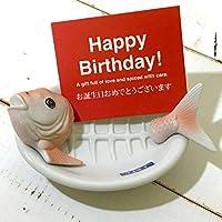 鯛のおさしみ皿 ギフトカード(HAPPY BIRTHDAY) 【L】