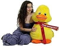 Personalized American Made Giant Stuffed Yellow Duck 36インチソフト3足Plush Animal