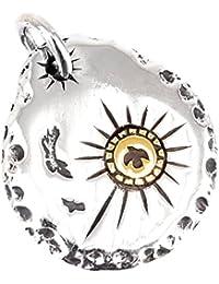 ジナブリング (JINA BRING) フェザーネックレス シルバー925 平打ち たたき ゴールドイーグル メタル ハンドメイド インディアンジュエリー フェザー ネックレス ペンダント メンズ