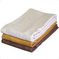 8年バスタオル 65cm×135cm ベージュ モカ ショコラ 3色3枚セット(各色1枚ずつ)
