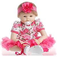 SanyDoll Reborn Baby Doll Soft Silicone vinyl 22inch 55cm Lovely Lifelike Cute Baby Boy Girl Toy Beautiful princess