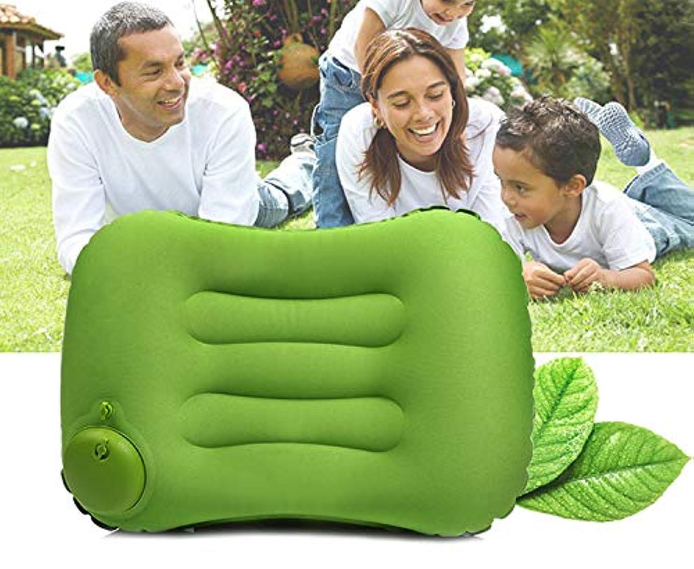 手動プレス式 キャンプ枕 空気枕 旅行枕 収納袋付き 超軽量 携帯用 事務室 車中泊 アウトドア用 折り畳み アウトドア キャンプ …
