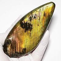 "【N2 stone Natural】天然鉱物 ラブラドライト (曹灰長石/labradorite) | ""美美しい"" 厳選ストーンシリーズ | (32: [一点物] 約148g, 114x49x17mm, 1個 | 産出地: マダガスカル)"