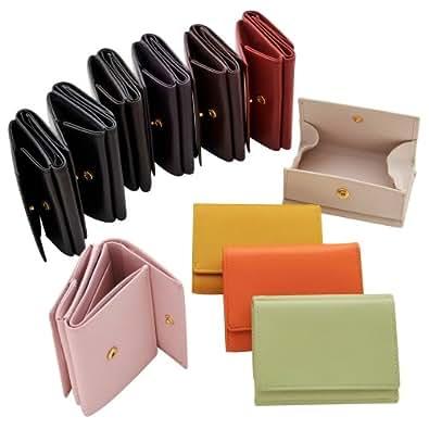極小財布 BECKER カウハイド ボックス型小銭入れ イエロー