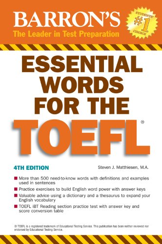 Barron's Essential Words for the Toeflの詳細を見る