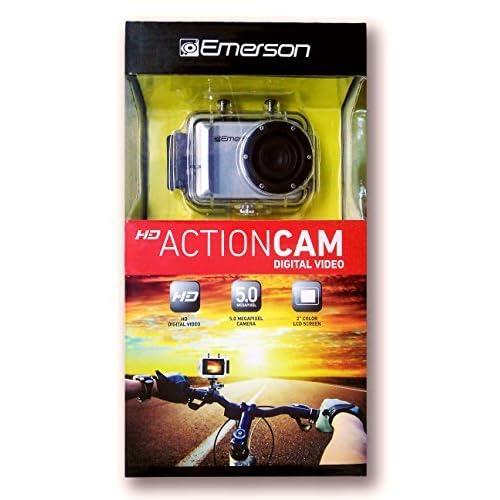Emerson Go Action Cam PLUS 720p HD Digital Video Camera Pro Grade 5 MP Video with Screen [並行輸入品]