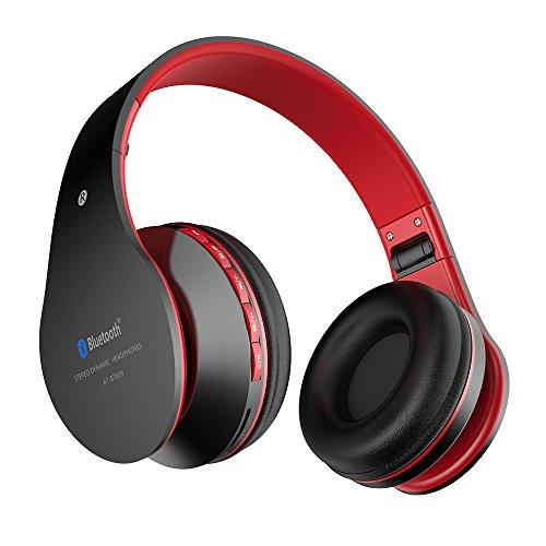 Aita Bt809 Bluetooth ヘッドホン ヘッドフォン 密閉型 高音質 マイク付き ハンズフリー通話 ステレオ音声 有線可能 折り畳み式 高遮音性 iPhone/iPad/Android/タブレット対応可能 ブルートゥース ワイヤレス ヘッドホン レッド