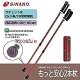 転倒を防ぎ安全歩行!!2本の杖で身体を支える。 SINANO シナノ ウォーキングポール もっと安心2本杖 パンサー [簡易パッケージ品]