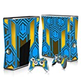 Linyuan 安定した品質 T0282* Skin Decal Wrap Sticker for Microsof XBOX360 SLIM Console+2 Controllers
