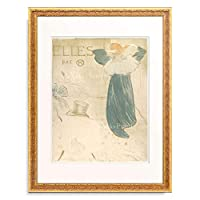 アンリ・ド・トゥールーズ=ロートレック Henri Marie Raymond de Toulouse-Lautrec-Monfa 「Elles (portfolio cover), 1896.」 額装アート作品